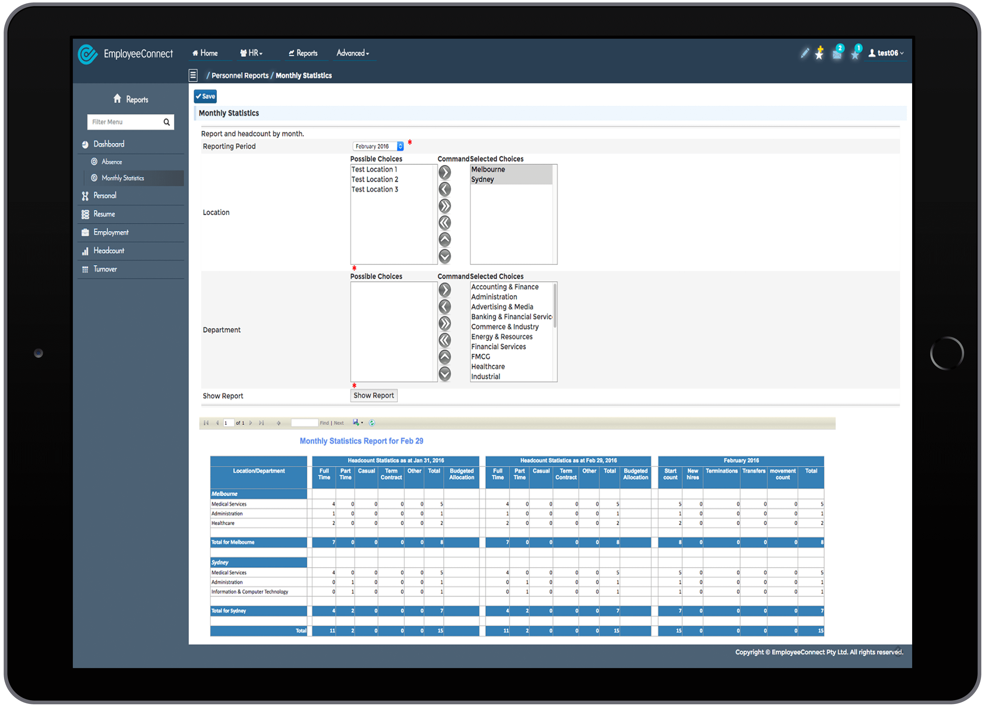 HR Reporting Software